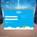 Skype - Login screen