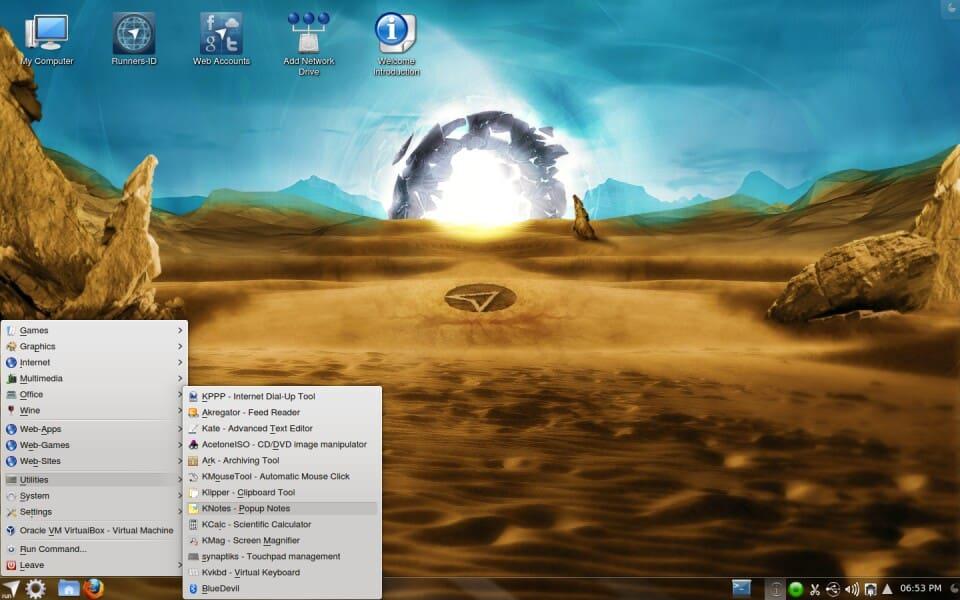 Dryland SE – Screenshots – Netrunner GNU/Linux
